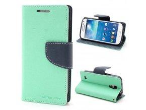 Pouzdro / kryt pro Samsung GALAXY S4 MINI I9195 - Mercury, Fancy Diary Mint/Navy