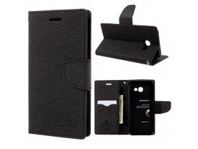 Pouzdro / kryt pro Samsung GALAXY A5 (2017) A520 - Mercury, Fancy Diary Black/Black