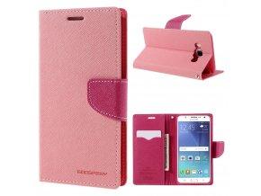 Pouzdro / kryt pro Samsung GALAXY J5 (2016) J510 - Mercury, Fancy Diary Pink/Hotpink