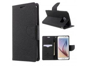 Pouzdro / kryt pro Samsung Galaxy S6 - Mercury, Fancy Diary Black/Black