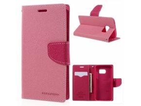 Pouzdro / kryt pro Samsung Galaxy S6 - Mercury, Fancy Diary Pink/Hotpink