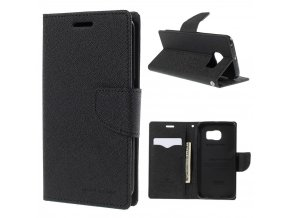 Pouzdro / kryt pro Samsung Galaxy S6 EDGE - Mercury, Fancy Diary Black/Black