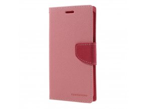 Pouzdro / kryt pro Samsung Galaxy S7 EDGE - Mercury, Fancy Diary Pink/Hotpink