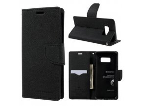 Pouzdro / kryt pro Samsung Galaxy S8 PLUS - Mercury, Fancy Diary Black/Black