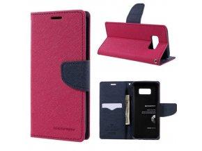 Pouzdro / kryt pro Samsung Galaxy S8 PLUS - Mercury, Fancy Diary Hotpink/Navy