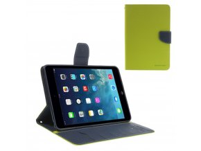 Pouzdro / kryt pro Apple iPad mini 1 / 2 / 3 - Mercury, Fancy Diary Lime/Navy