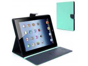 Pouzdro / kryt pro Apple iPad 2 / 3 / 4 - Mercury, Fancy Diary Mint/Navy