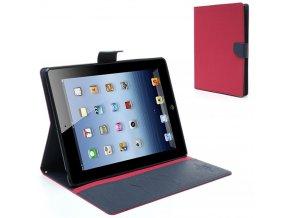 Pouzdro / kryt pro Apple iPad 2 / 3 / 4 - Mercury, Fancy Diary Hotpink/Navy