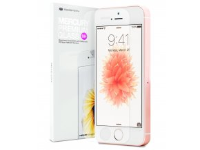 Ochranné tvrzené sklo na iPhone 5 / 5S / SE - Mercury, Premium Glass
