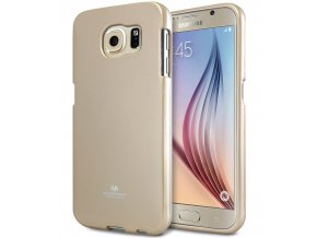 Pouzdro / kryt pro Samsung Galaxy S6 - Mercury, Jelly Gold