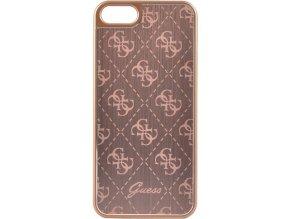 Pouzdro / kryt pro Apple iPhone 5 / 5S / SE - Guess, 4G Aluminum Rose Gold