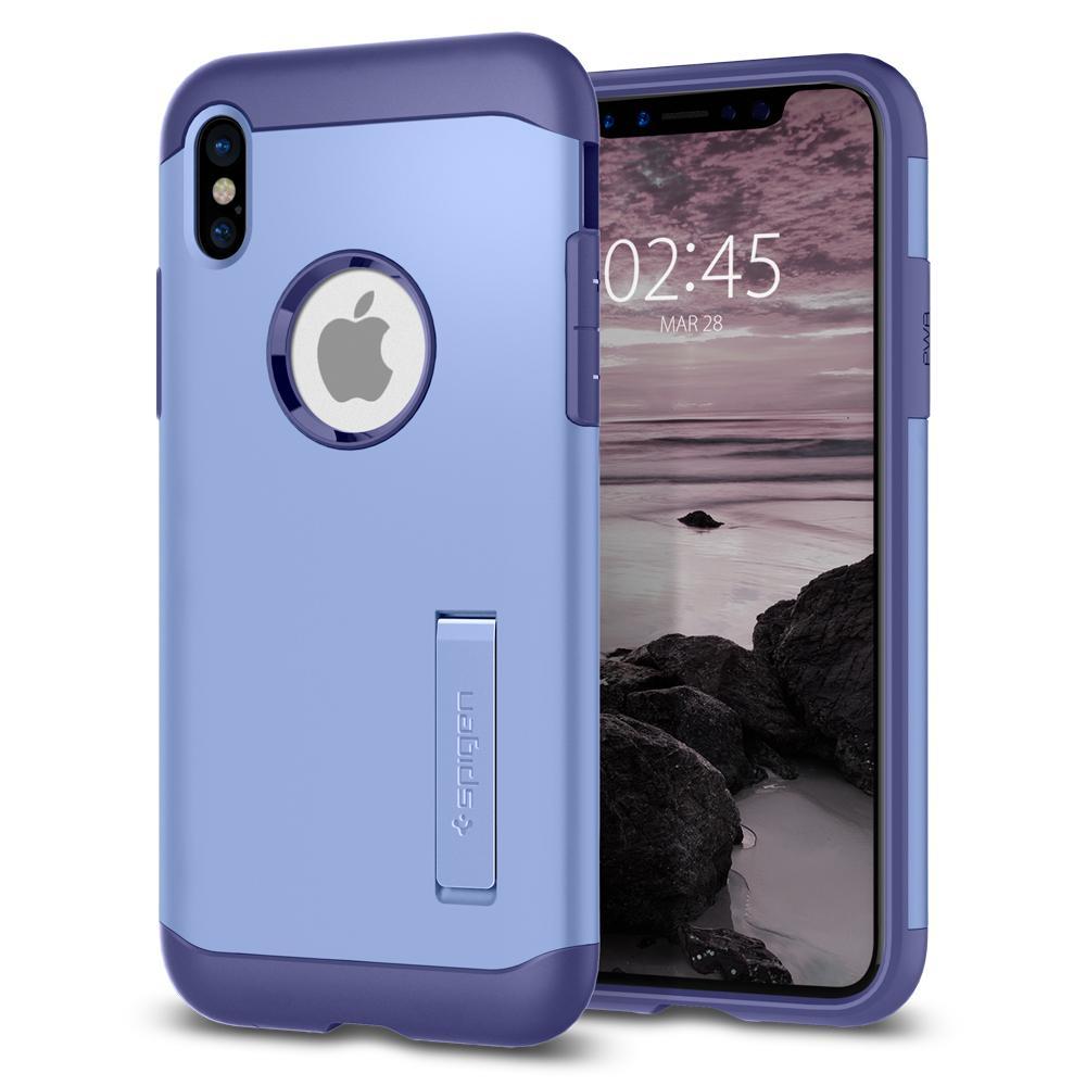 Ochranný kryt pro iPhone X - Spigen, Slim Armor Violet