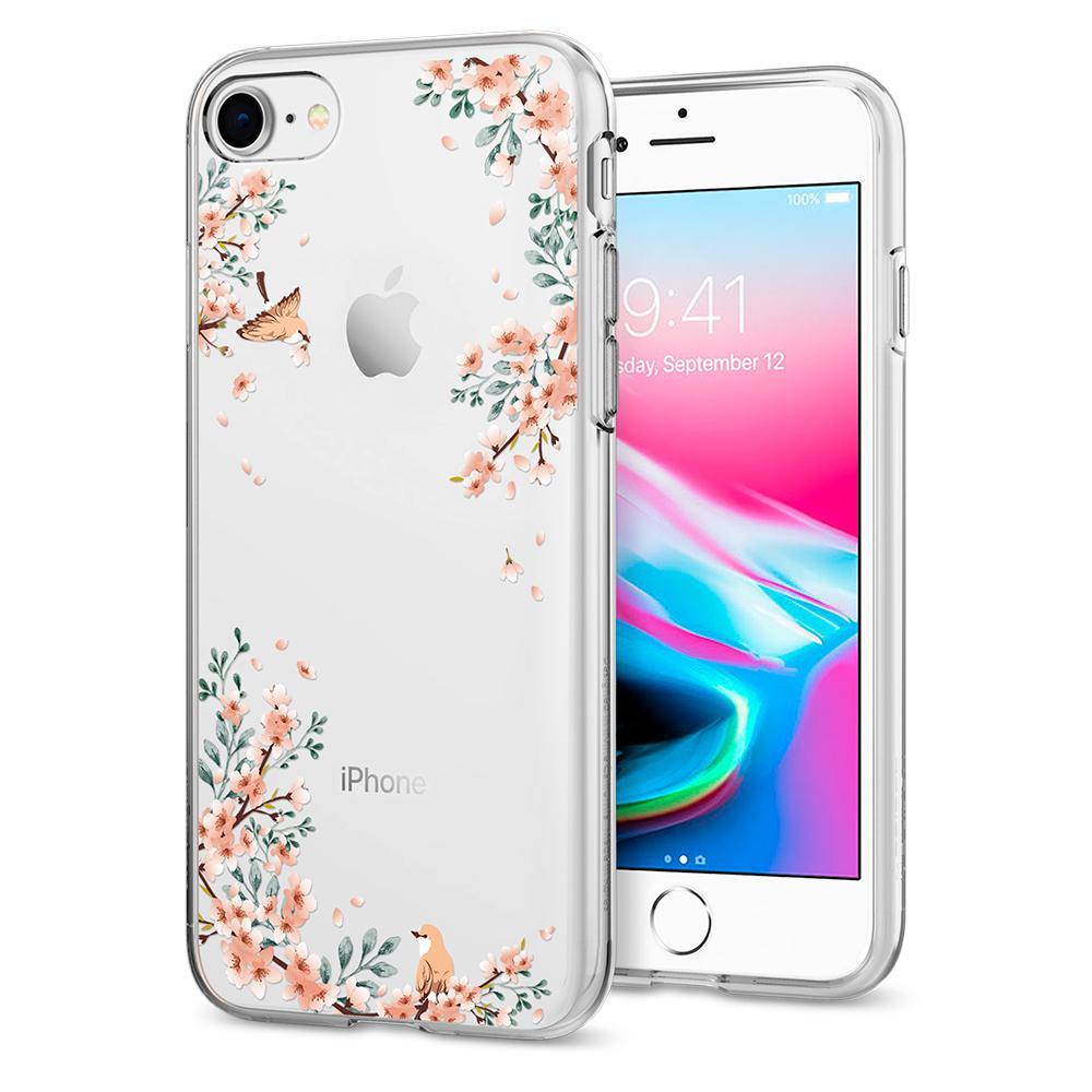 Ochranný kryt pro iPhone 7 / 8 - Spigen, Liquid Crystal Blossom Nature