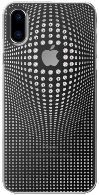 Ochranný kryt pro iPhone X - Bling My Thing, Warp Deluxe Silver