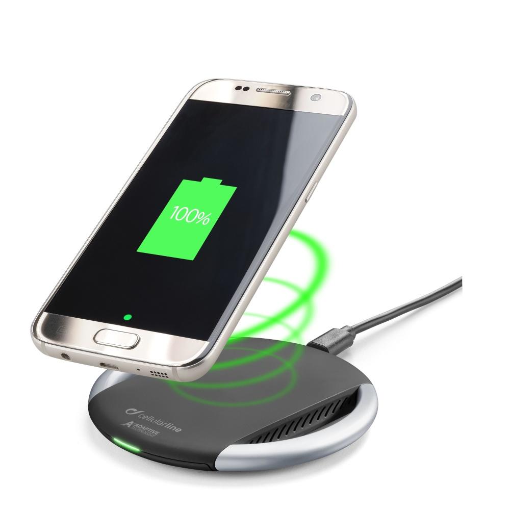 Bezdrátová rychlá nabíječka pro iPhone - Cellularline, WIRELESSPAD BLACK