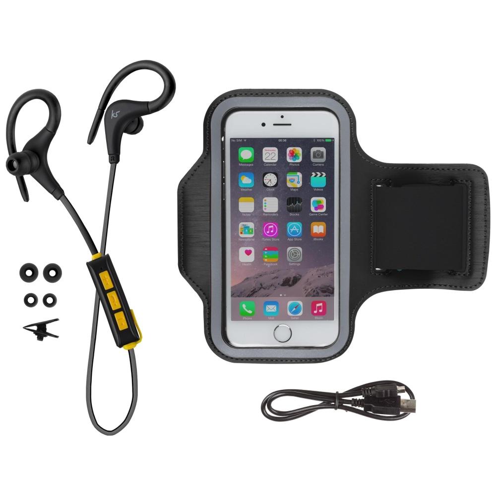 Sportovní bezdrátová sluchátka a sporotvní pouzdro pro iPhone - KITSOUND, RACE (sluchátka+Armband)