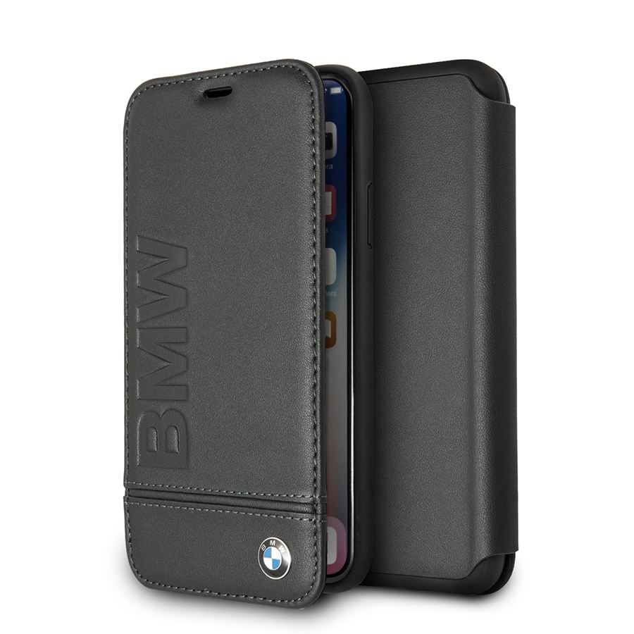 Ochranný kryt / pouzdro pro iPhone X - BMW, Signature Book Black