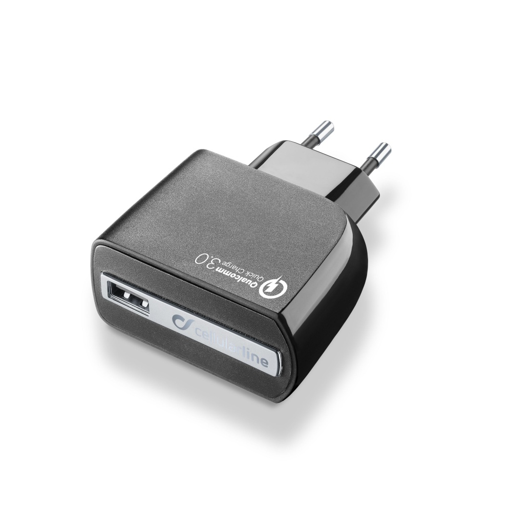 Nabíjecí AC adaptér pro iPhone a iPad - CELLULARLINE, QUALCOMM QUICK CHARGE 3.0 18W