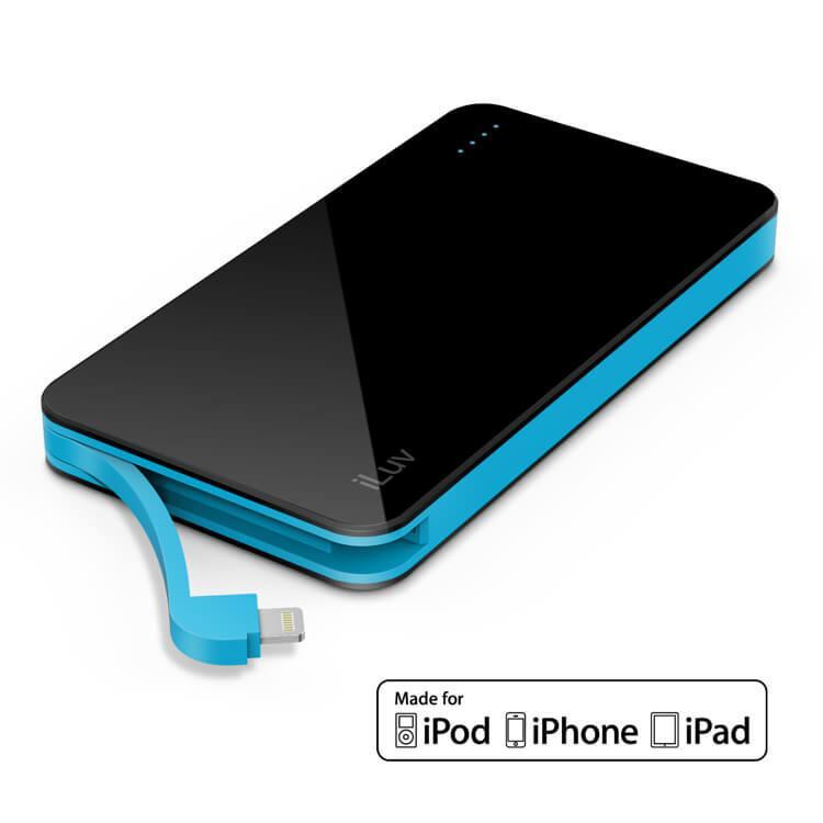 Externí baterie s kabelem Lightning pro iPhone a iPad - iLuv, myPower 5000mAh Black