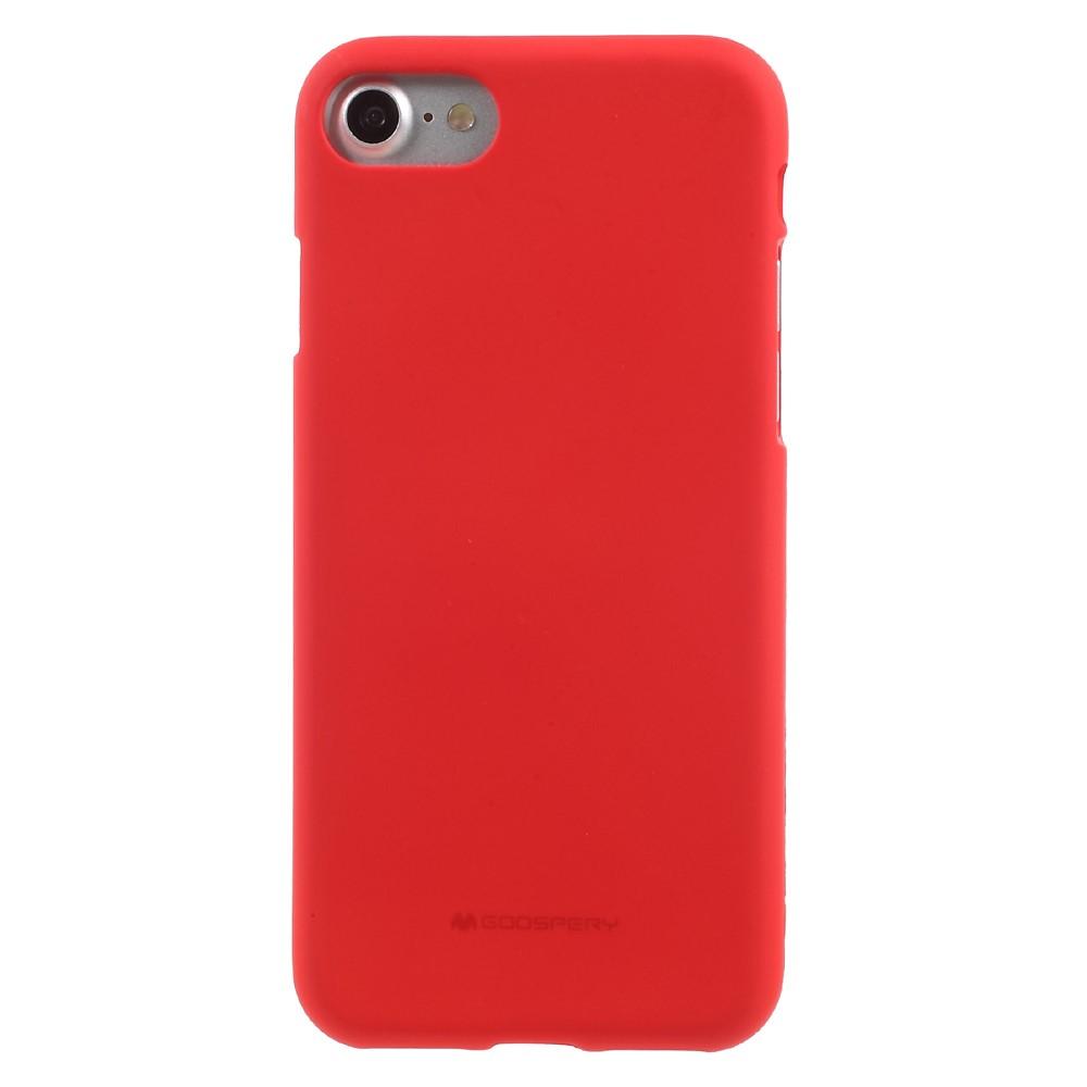 Levně Ochranný kryt pro iPhone 7 / 8 / SE (2020) - Mercury, Soft Feeling Red