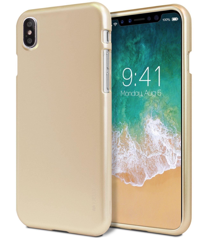 Ochranný kryt pro iPhone X - Mercury, i-Jelly Gold