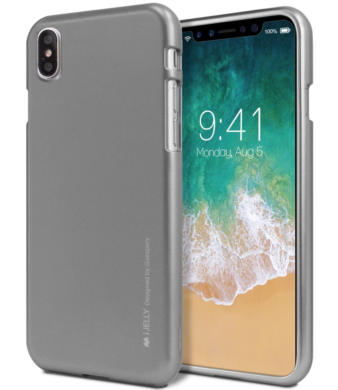 Ochranný kryt pro iPhone X - Mercury, i-Jelly Gray