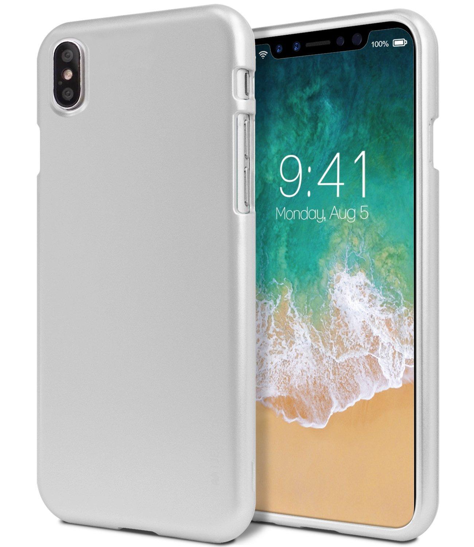 Ochranný kryt pro iPhone X - Mercury, i-Jelly Silver