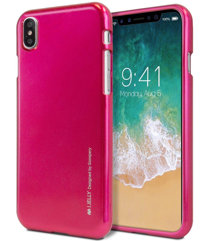 Ochranný kryt pro iPhone X - Mercury, i-Jelly HotPink