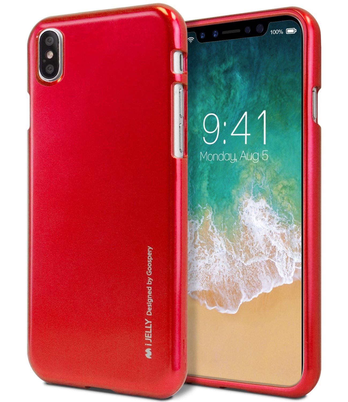Ochranný kryt pro iPhone X - Mercury, i-Jelly Red