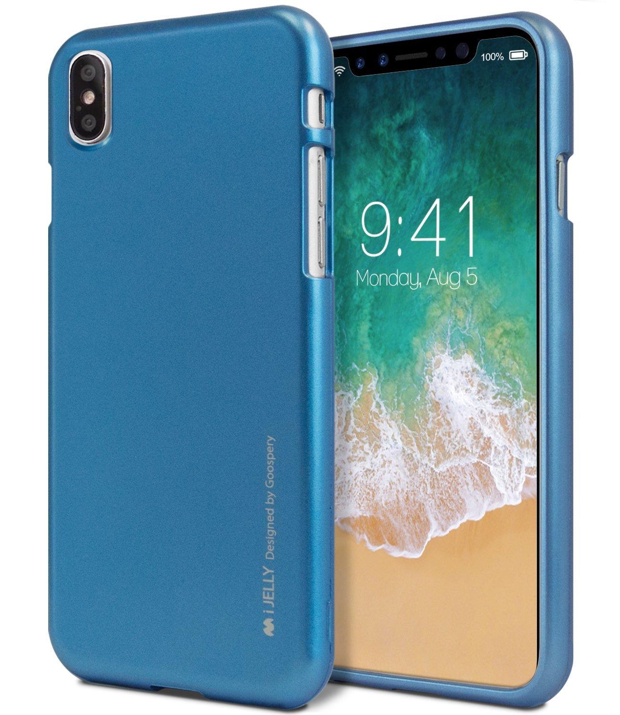 Ochranný kryt pro iPhone X - Mercury, i-Jelly Blue