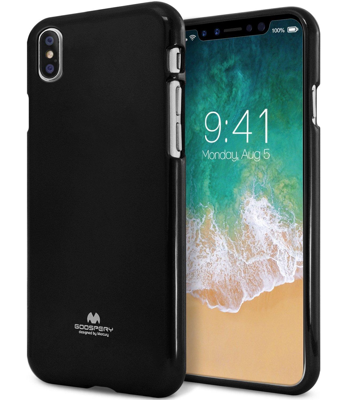 Ochranný kryt pro iPhone X - Mercury, Jelly Case Black