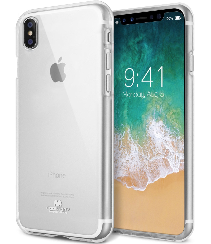 Ochranný kryt pro iPhone X - Mercury, Jelly Transparent