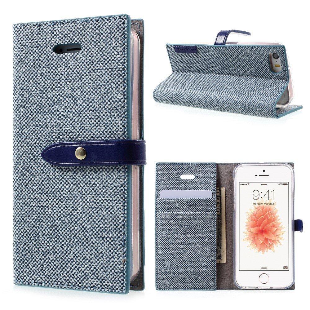 Pouzdro / kryt pro iPhone 5 / 5S / SE - Mercury, Milano Diary BLUE/BLUE