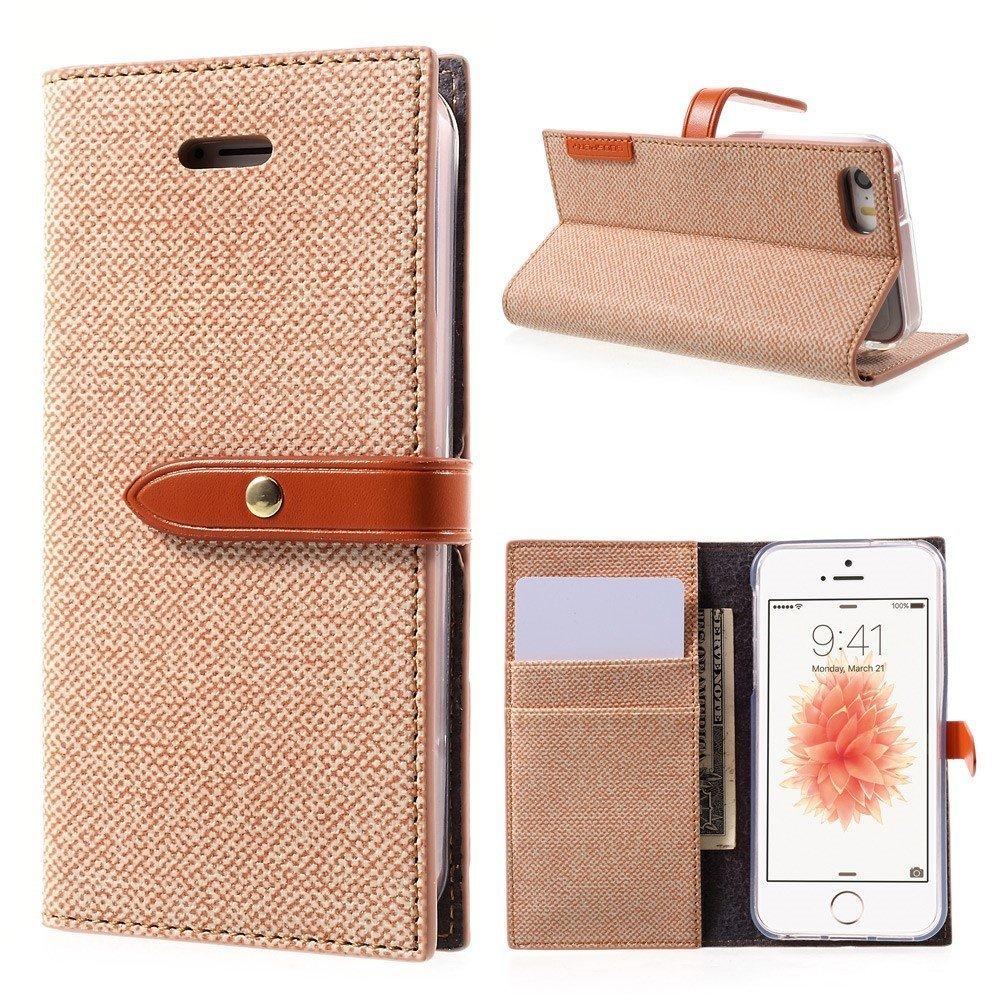 Pouzdro / kryt pro iPhone 5 / 5S / SE - Mercury, Milano Diary ORANGE/ORANGE