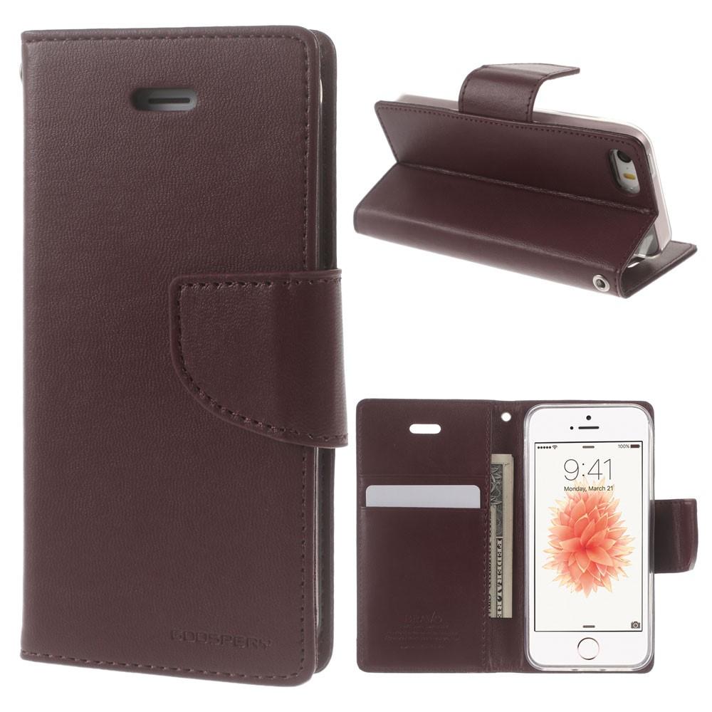 Pouzdro / kryt pro iPhone 5 / 5S / SE - Mercury, Bravo Diary WINE