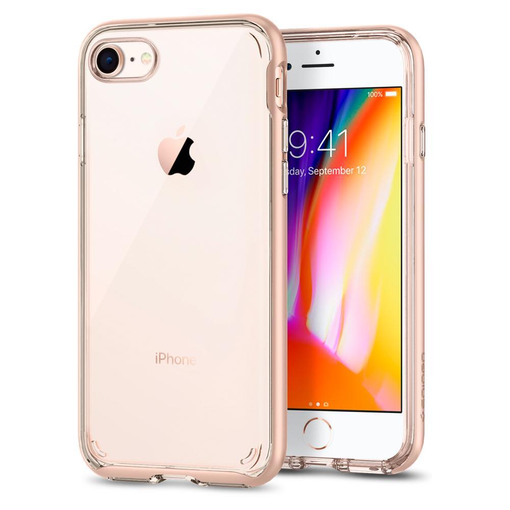 Ochranný kryt pro iPhone 7 / 8 - Spigen, Neo Hybrid Crystal 2 Blush Gold