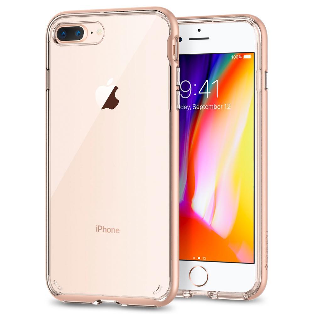 Ochranný kryt pro iPhone 7 PLUS / 8 PLUS - Spigen, Neo Hybrid Crystal 2 Blush Gold