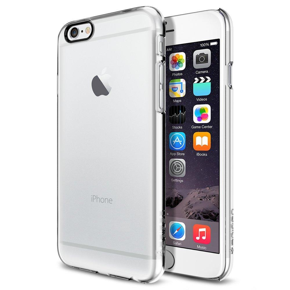 Pouzdro / kryt pro Apple iPhone 6 / 6S - Spigen, Thin Fit Crystal Clear