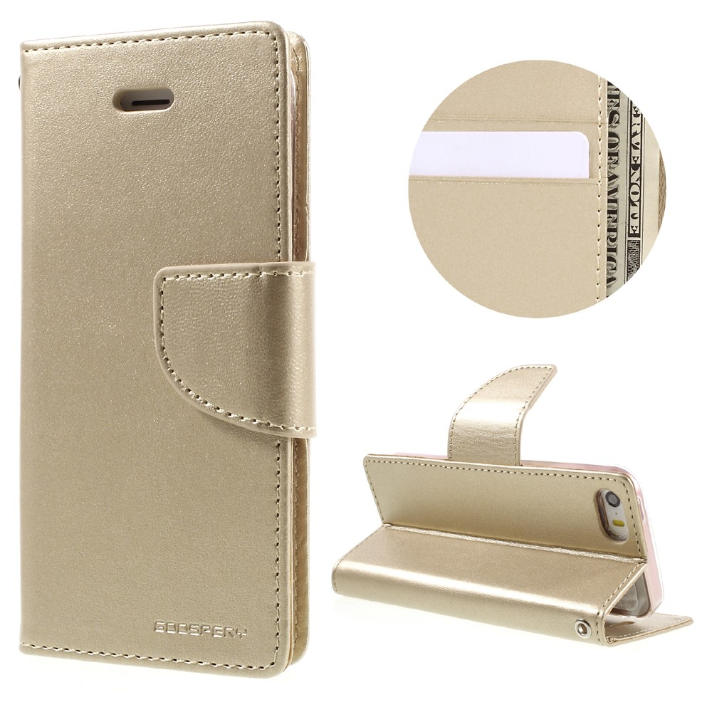 Pouzdro / kryt pro iPhone 5 / 5S / SE - Mercury, Bravo Diary GOLD
