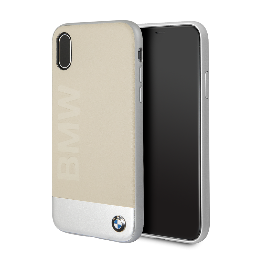 Ochranný kryt pro iPhone X - BMW, Soft Back Beige