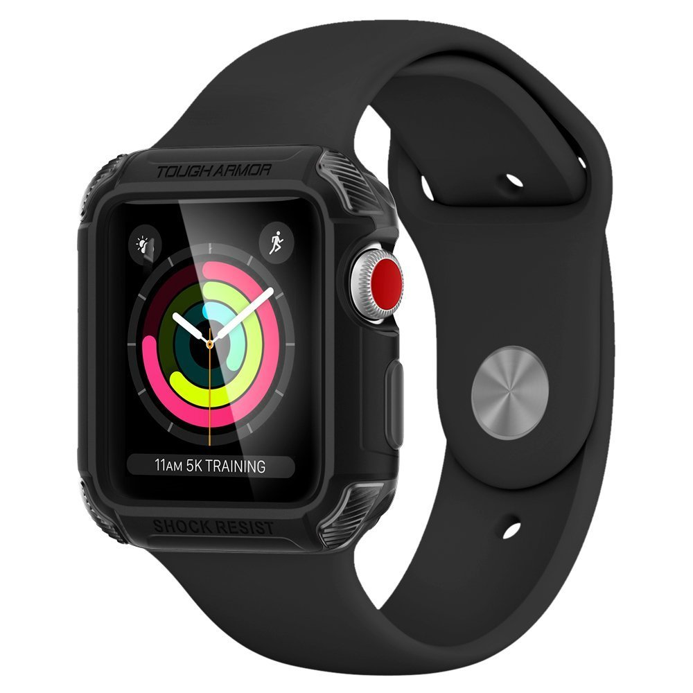 Pouzdro / kryt pro Apple Watch 42mm - Spigen, Tough Armor 2 Black
