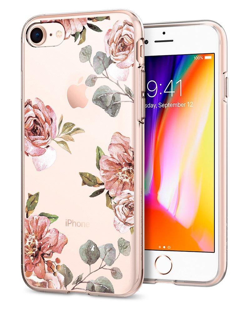 Ochranný kryt pro iPhone 7 / 8 - Spigen, Liquid Crystal Blossom Flower