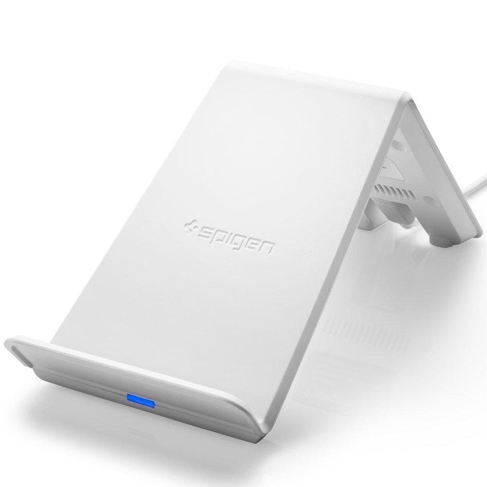 Bezdrátová rychlá nabíječka pro iPhone 8 / 8 Plus / X - Spigen, Essential F303W Qi White