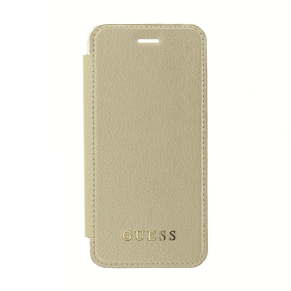 Pouzdro / kryt pro iPhone 8 / 7 / 6s / 6 - Guess, IriDescent Book Gold