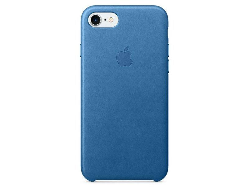 Ochranný kryt pro iPhone 7 - Apple, Leather Case Sea Blue