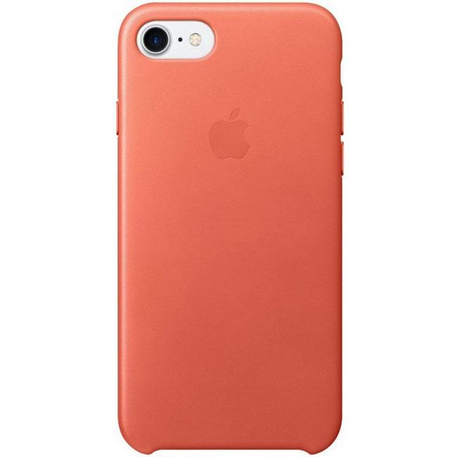 Ochranný kryt pro iPhone 7 - Apple, Leather Case Geranium - ROZBALENO