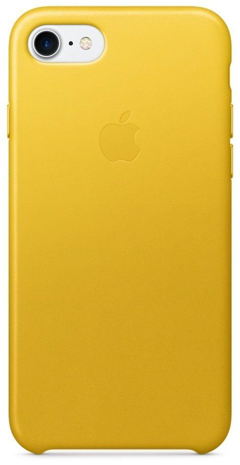 Ochranný kryt pro iPhone 7 - Apple, Leather Case Sunflower