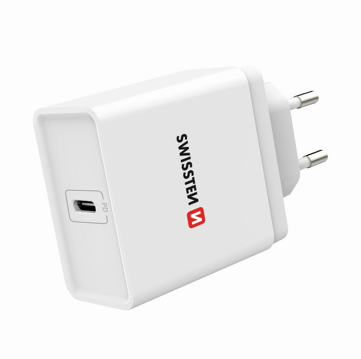 Sítóvý adaptér - SWISSTEN, 18W USB-C