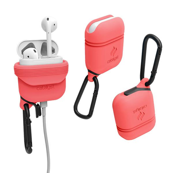 Vodotěsné pouzdro pro sluchátka AirPods - Catalyst, Coral