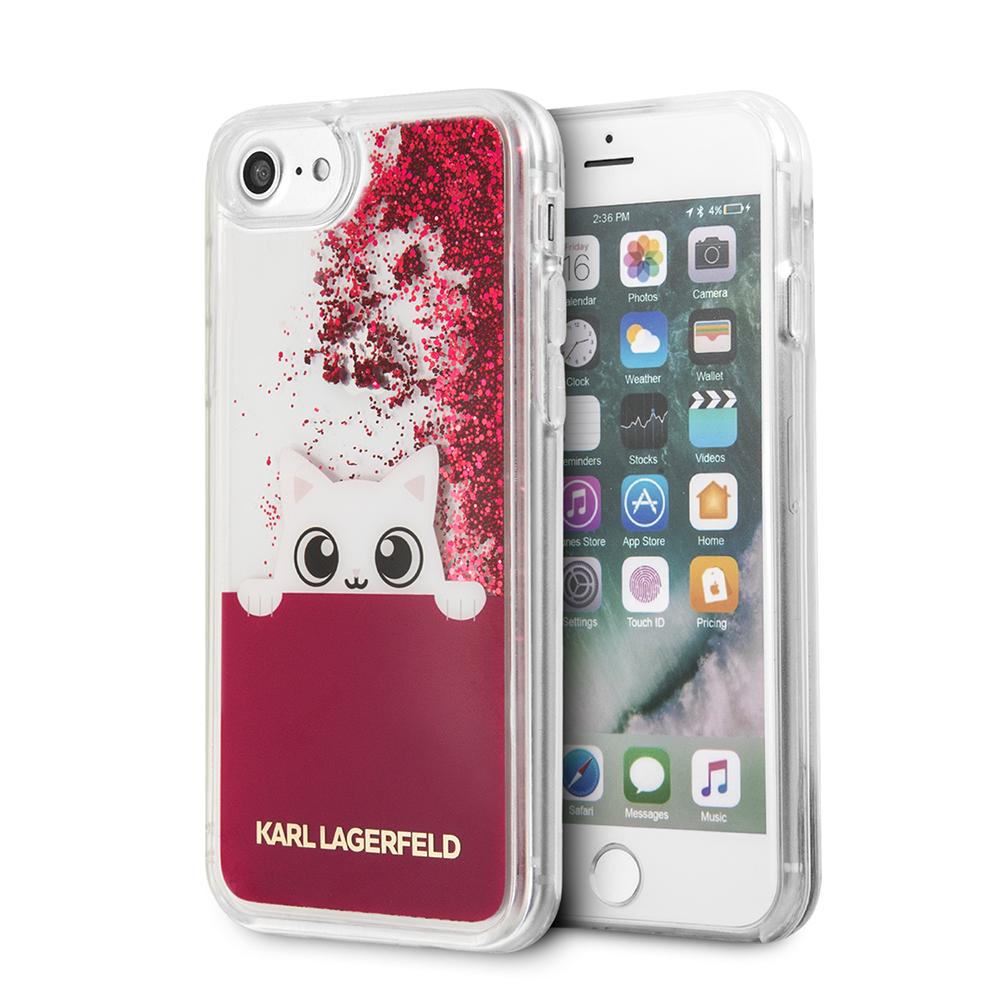 Ochranný kryt pro iPhone 7 / 8 - Karl Lagerfeld, Peek and Boo Fuchsia